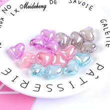 Acrylic Transparent Bubble bead Snow Heart Back hole  Hair ornament Childrens gifts Jewelry accessories handmade materials