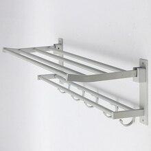 Alumimum полотенец стойку слоя комнаты крючки вешалка ванной складной держатель для