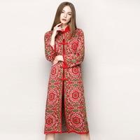 730032016 New Original Design Folk Style High Grade Knitted Cardigan Coat Lengthened Female