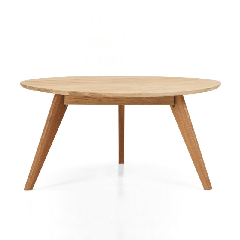 Good Wood Coffee Table Scandinavian Minimalist Small Apartment White Oak Round Coffe In Tables From