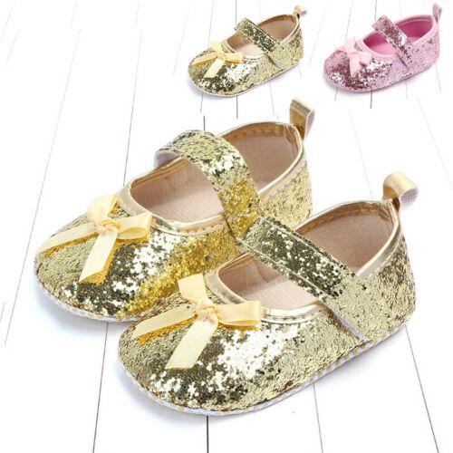 Shoe Prewalkers Anti-Slip Toddler Baby-Girl Princess Sequin Paillette