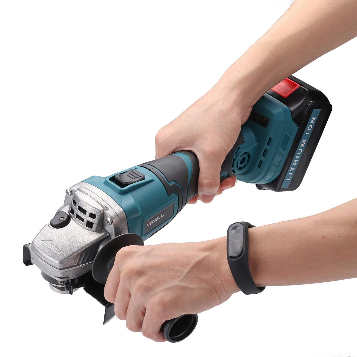 Cordless Angle Grinder 48V 128tv/29800mA Lithium-Ion Grinding Machine Cutting Electric Angle Grinder Grinding / Chainsaw Bracket
