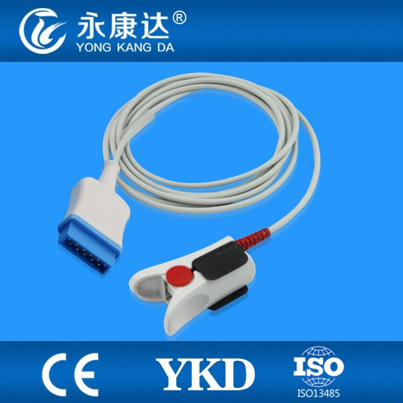 GE-marqutte(OHMEDA) compatible direct reusable adult finger clip sensor,3m,11pinGE-marqutte(OHMEDA) compatible direct reusable adult finger clip sensor,3m,11pin