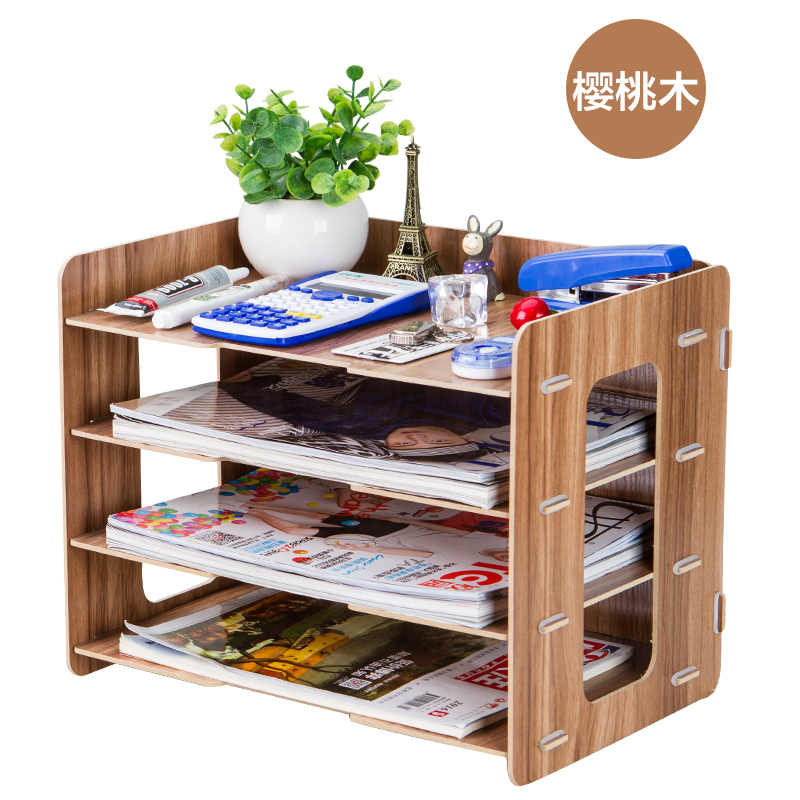 Simple File Tray Multi-function File Rack Office Supplies Desktop Storage Box A4 Bills Data Management Rack B02
