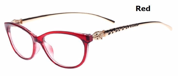 8bf622774380 2019 2016 Fashion Cheetah Earstems Glasses Frames Women Ladies ...