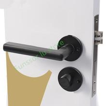 где купить Black space aluminum door handle Interior / Bedroom door lock Split Silent door lock ,Door hardware по лучшей цене