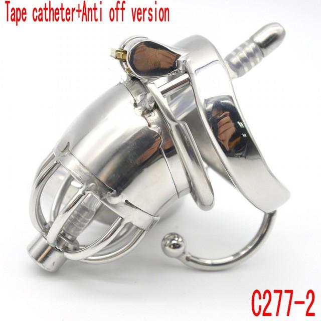 Ultra corto Anti off versión con cinturón de castidad de Acero Inoxidable catéter bloqueo/gancho de cinturón de arco broche de suministros Para los Adultos C277-2