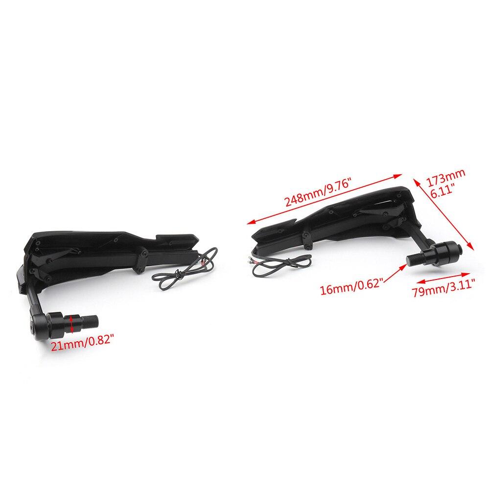 Lenker Handschutz Wind Protector w//Blinker Licht Für Yamaha XT1200Z XT1200X XJR1300 XSR700 MT125 MT-07 MT-09 FZ07 FZ09