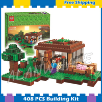 408pcs My World The First Night Adventure Shelter 10176 Model Building Blocks Toys Bricks Compatible with Lego Minecrafted