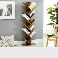 HQ BK01 Modern Office Living Home Tawny Color Bookshelf Bookcase Books CD Display Storage Rack Shelf Kids Students Wood Bookrack