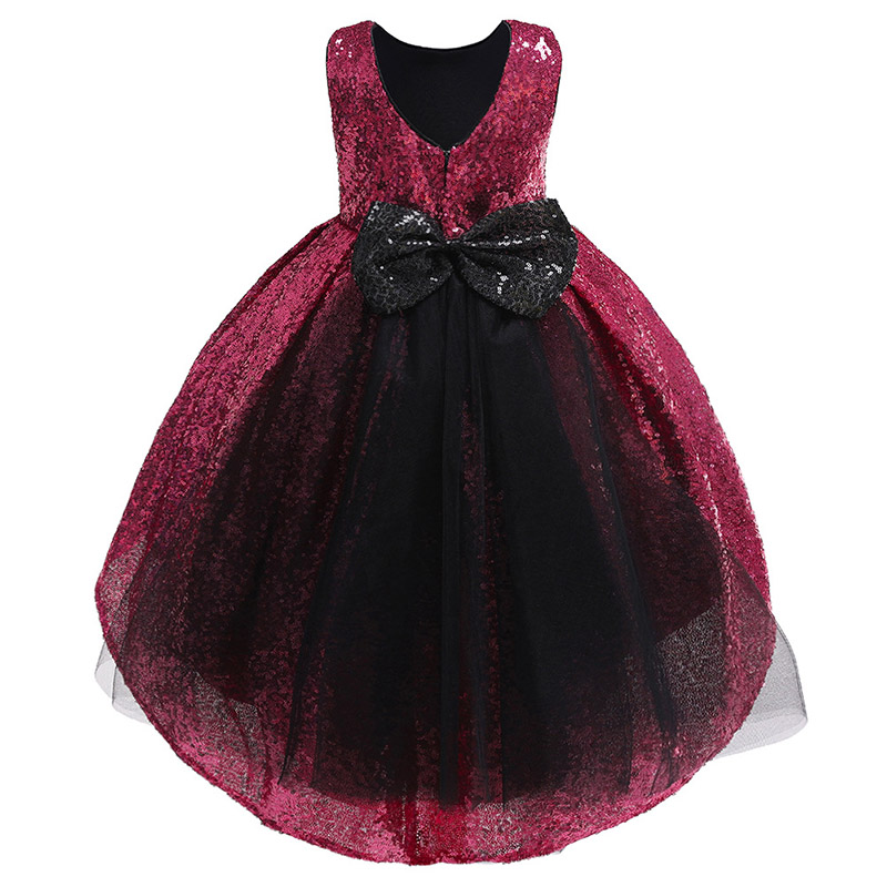 Sequin tail first communion   dress   princess prom party clothing elegant   flower     girls     dress   formal birthday   dress   baby costume