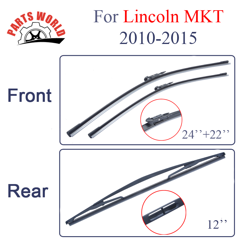 2015 Lincoln Mkt Camshaft: Rubber Front And Rear Wiper Blades For Lincoln MKT 2010