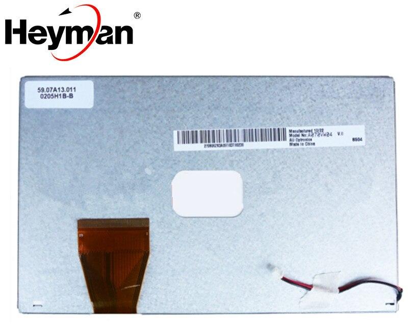Panel de pantalla LCD de 7 pulgadas 800*480 A070VW04 V.0 de Heyman, pantalla DVD de navegación para coche