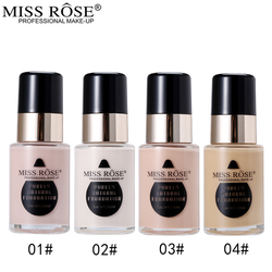 Miss Rose Face Base Liquid Foundation Natural Makeup Whiten Brighten Make Up Foundation Full Cover Corrector Fond De Teint 40ml