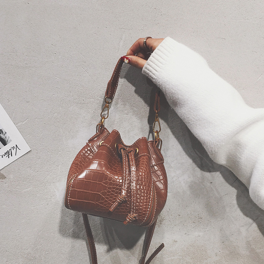 Women\'S Handbag Crossbody Shoulder Bag For Girls Tassels Bucket Bag Female Leather Messenger Bags Women\'S Bags
