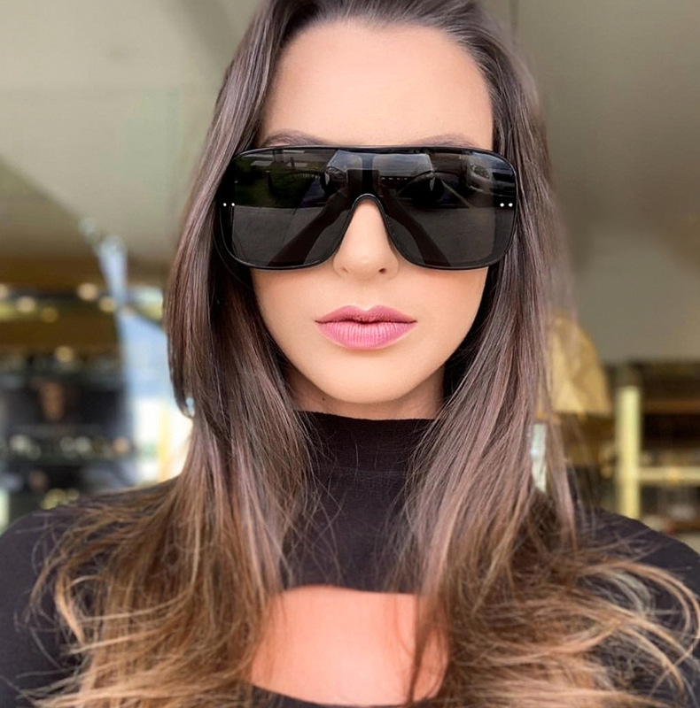 MARC Sunglasses Women Brand Designer Shield Vintage Sexy Woman Oval Fashion Retro Oversized UV400