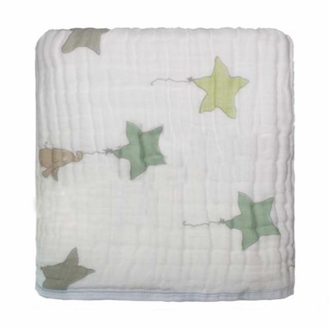 Envío libre Aden anais Otoño recién nacido bebé suministros de gasas sostiene mantas engrosamiento 100% de Muselina de algodón 8 capas con etiqueta 700g