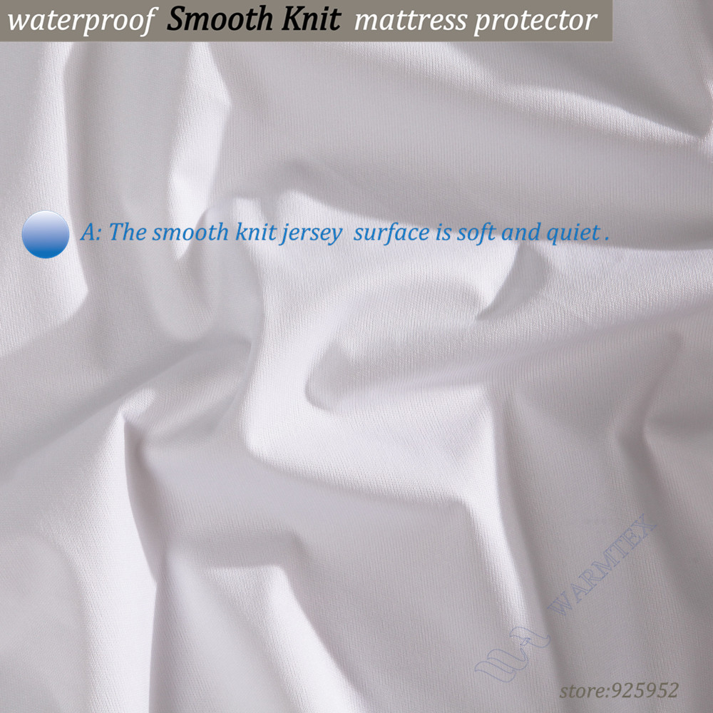 90x190cm Smooth knit cloth 100% waterproof single sizes for kids Mattress Cover Mattress Protector 100% Waterproof of TPU A