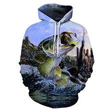 Осенне-зимняя обувь Новый 3D Толстовка Для мужчин с капюшоном смешные рыбы кофты Спортивные Костюмы Пальто с принтом пуловер куртка, Для женщин S-6XL