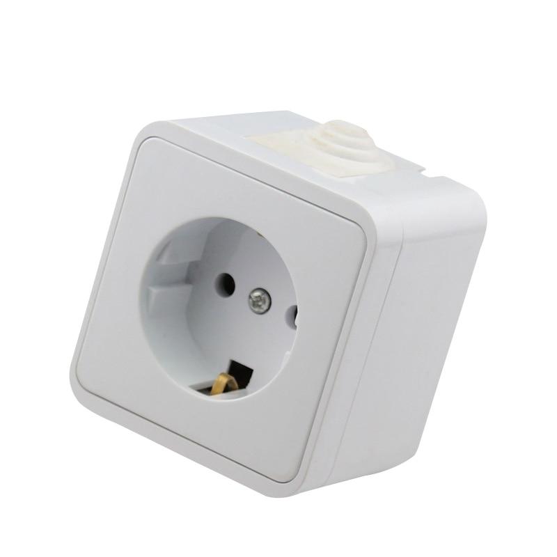 European Standard Waterproof Socket Power Outlet Wall Outlet Port