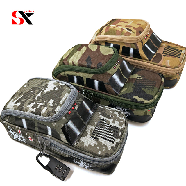 235d318b01 Pencil Case Vehicle Pen Bag with code Lock for Zipper Camouflage Canvas  Large Capacity Cute Stationery Gift Pencil box car