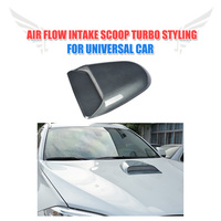 Universal Car Decorative Air Flow Intake Scoop Turbo Bonnet Vent Hood Cover For BMW For Audi