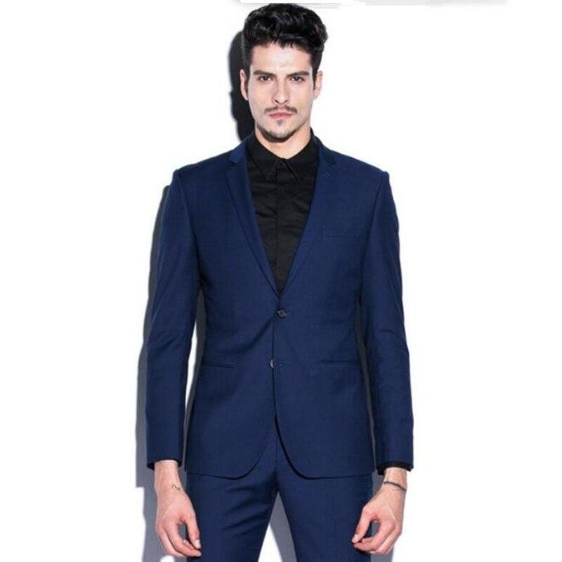 c2045341b1f6a Nouvelle arrivée hommes costume de mode hommes smokings de mariage costumes  noir revers unique poitrine de bal costume smokings groomsman costume  (veste + ...