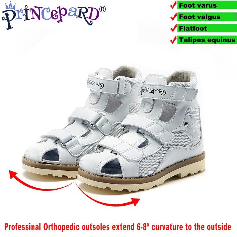 2019 nuovi bambini di estate ortopedici sandali per i bambini delle ragazze dei ragazzi bianco sandali di cuoio genuino 20-36 Ebropean formato del bambino scarpe