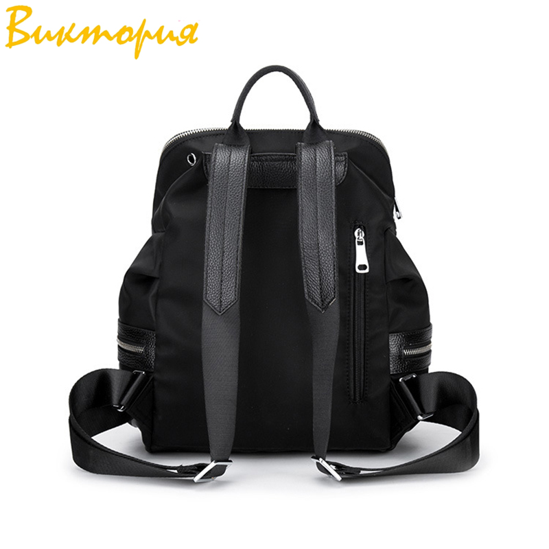 Sac à dos en tissu Oxford CHARA'S sac de voyage Anti-vol sac à dos femme Wangka USB sacs à dos blanc cassé 2019 nouveau - 2