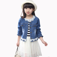 2017 Spring Fall Children S Fashion Suit Set Of 4 13 Year Old Girl Lace Stitching