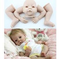 Quality Silicone & Vinyl Reborn babies lifelike baby doll doll kit unpainted blank doll head arm leg