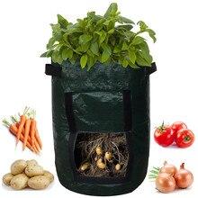 DIY картофеля расти ящик для комнатных растений, из полиэтиленовой ткани посадки контейнер сумка овощная садоводческая jardineria утепленная горшок-плошка рост посевов сумка#10