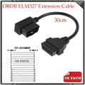 Universal OBD II OBD 2 16Pin Male To Female 16 Pin Extension ELM327 Diagnostic Scanner Tool OBDII J1962 Auto Car Cable 30cm