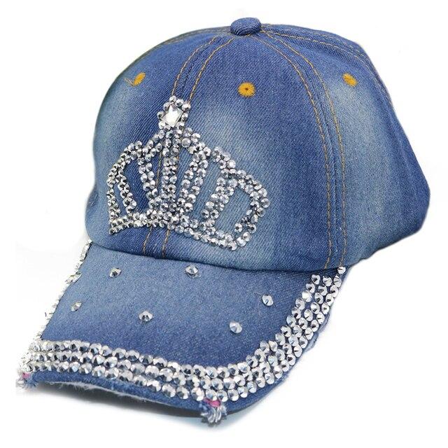 1fa5c00d39a7f6 Women Girls Outdoor Rhinestone love shape Denim Baseball Cap Hat light blue,dark  blue,moustache,crown shape