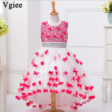 Vgiee Kids Dresses for Girls Party Wedding Princess Dress 10 to 12 Years Baby Girl Clothes Summer 2019 Children Dresses Brand стоимость