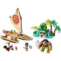 Amis série Moana Voyage océan modèle bricolage bloc de construction jouet Maui princesse Moana Compatible avec des amis de marque célèbre