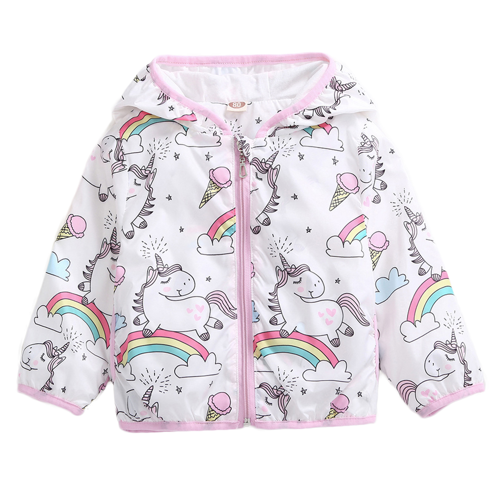 Girl Jackets Girls Outerwear Coats My Little Poli Kids Sweatshirt Unicorn Jackets Baby Hoodie Cute Pony Windbreaker Sport Blazer