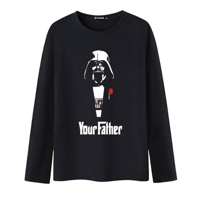 Мода Звездные войны футболка С Длинным Рукавом Мужчины 2016 и Мужчин футболки в Мягкий Хлопок Тройники и Топы для Мужчин