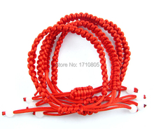 Hot Fashion Jewelry 50pcs Vintage Hand-woven Red String Bracelet Creative Personality Charm Statement Accessories Shipping C232