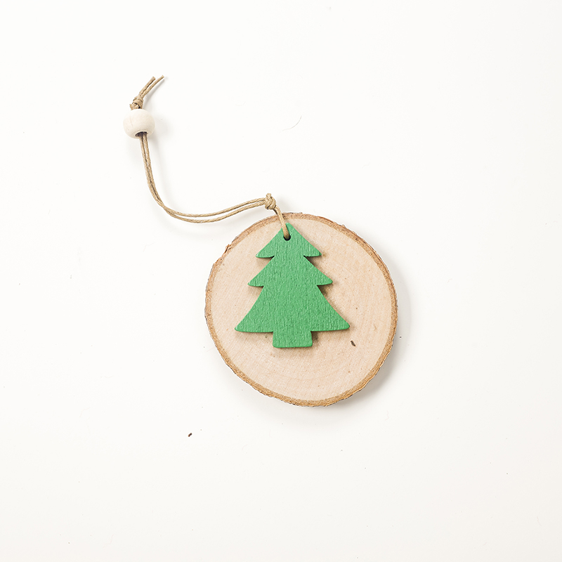Cute Cartoon Smile Elk Wooden Ornament Christmas Tree Decoration Hanging Pendant Xmas Party Decor for Home Kids Gift Animal 2020 48