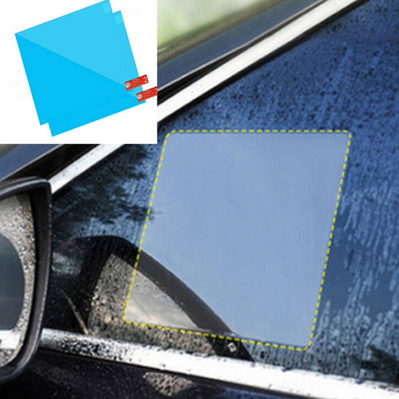 2Pcs Car Side Window Protective Film Anti-fog Membrane Anti g-lare Sticker Blue Car Side Window Protective Film
