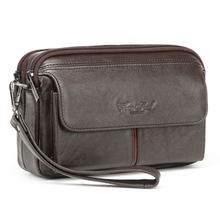 Мужские деловые сумки-клатчи из натуральной кожи, Винтажный чехол для телефона, портсигар, сумочка, Мужская удобная сумка, держатель для карт, кошелек