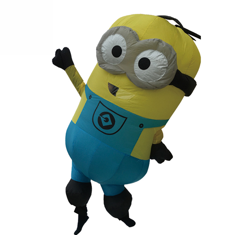 Minions Halloween Costume.Us 37 17 9 Off Purim Carnival Parade Costumes Minions Inflatable Adult Fancy Dress Costume Halloween Costume Minion Costume Blue Yellow In Anime