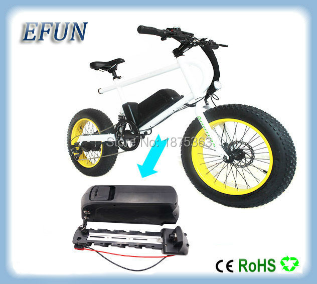 Free shipping BBS02/BBS03/BBSHD 48V 500W-1000W 18650 Li-ion fat bike battery 48V 13Ah down tube battery with 54.6V 2A charger