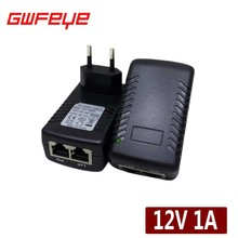 GWFEYE DC12V1A Active POE Injector CCTV IP Camera POE Switch Ethernet Power Adapter Security EU/US/UK/AU Standard Optional