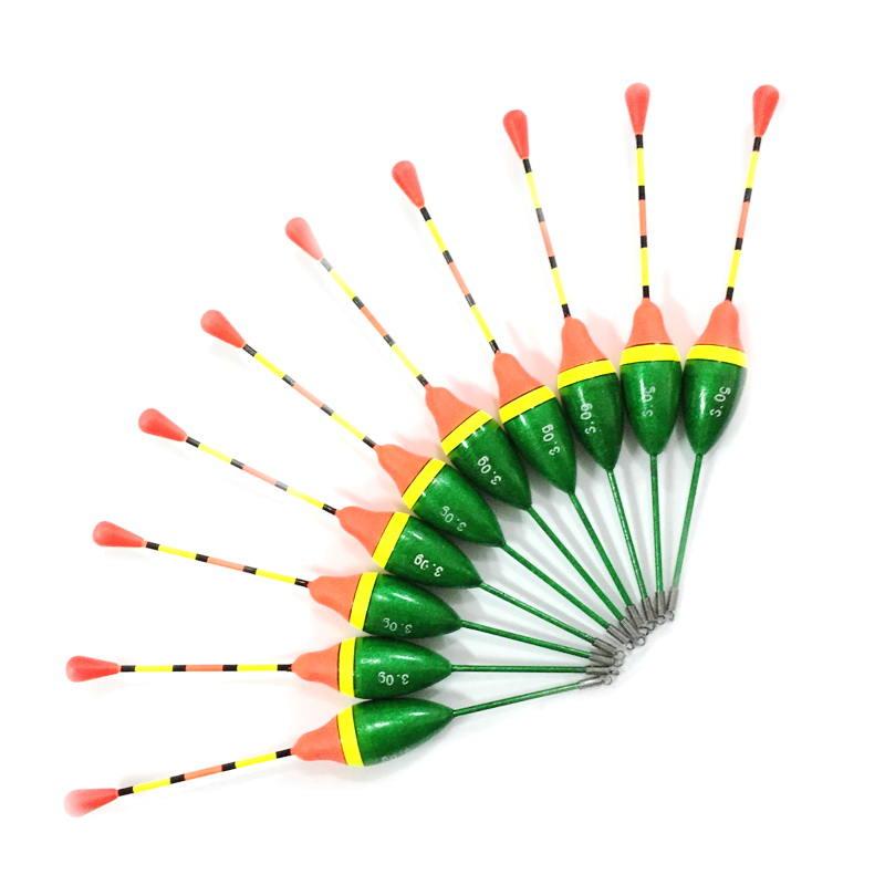 Buy yewooyee 10pcs green fishing float for Fishing bobbers for sale
