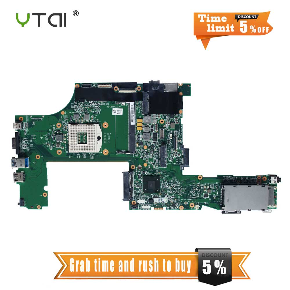 YTAI T530 T530I mainboard for Lenovo T530 T530I laptop motherboard QM77 USB3.0 04X1483 11S0C55251 DDR3 motherboard 100% tested 685404 001 laptop motherboard for hp 2570p qm77 j8a ddr3 mainboard full tested