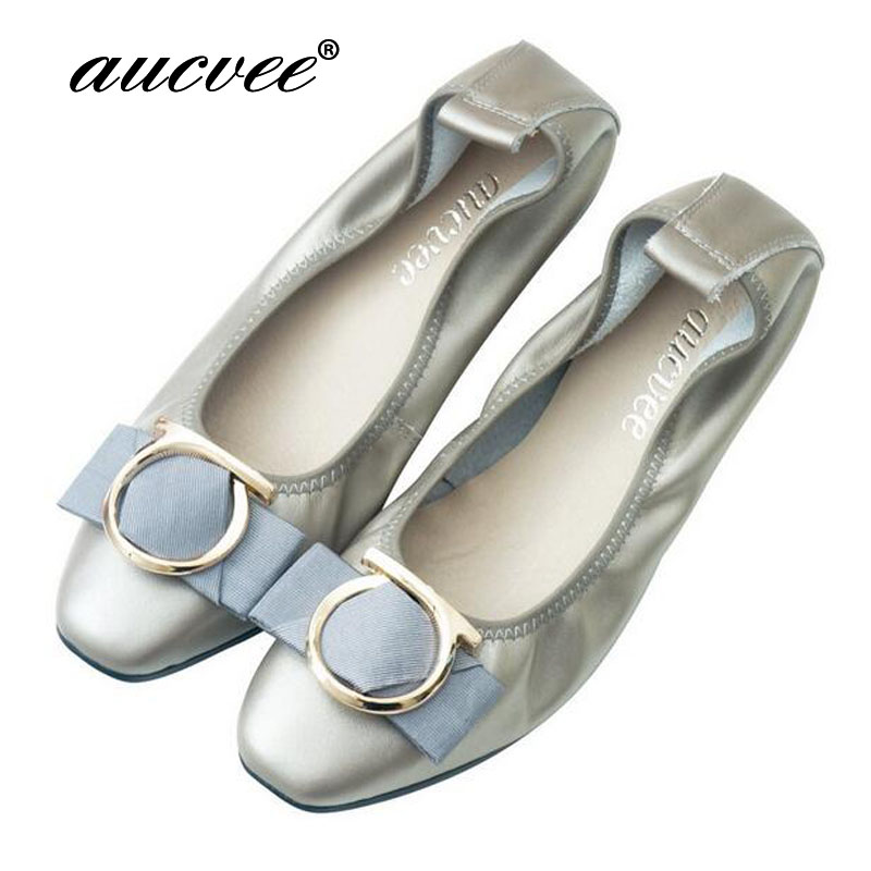 13 Colors Size 35 43 Women Flat Spring Butterfly Knot Ballet Flats Folded Shoes Casual Mother