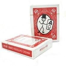 Free Shipping Card-toon Cartoon Magic Cards Magia Deck Pack Playing Card Magic Tricks Close Up Street Magic Tricks Puzzle Toys недорого