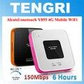 Оригинальный Разблокирована Alcatel Y855 One touch 150 Мбит 4 Г LTE FDD Беспроводной Маршрутизатор 3 Г Мобильный Широкополосный Карман Wi-Fi Dongle точка